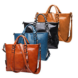 Leather Carry-All Messenger Bag Includes Extended Shoulder Strap, Multiple Colors