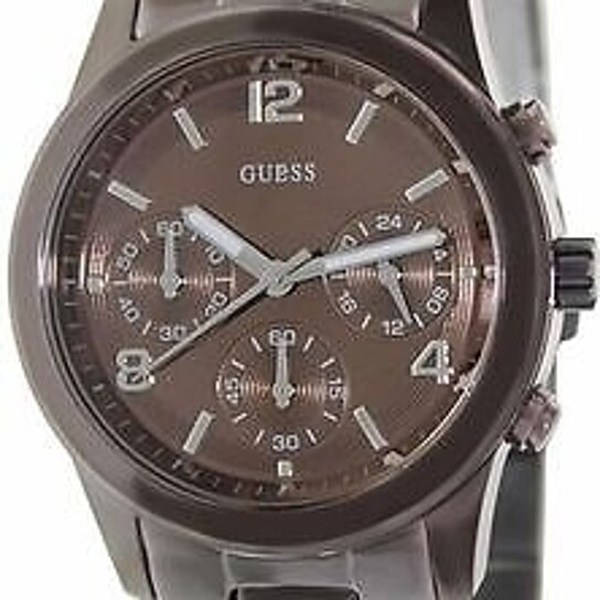 Buy Guess Women S Chronograph Bronze Tone Stainless Steel