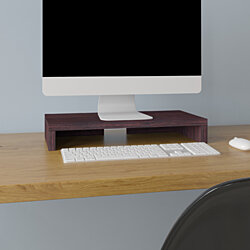 "Way Basics 19.7""W Simple Computer Monitor Stand, Espresso- Lifetime Guarantee"