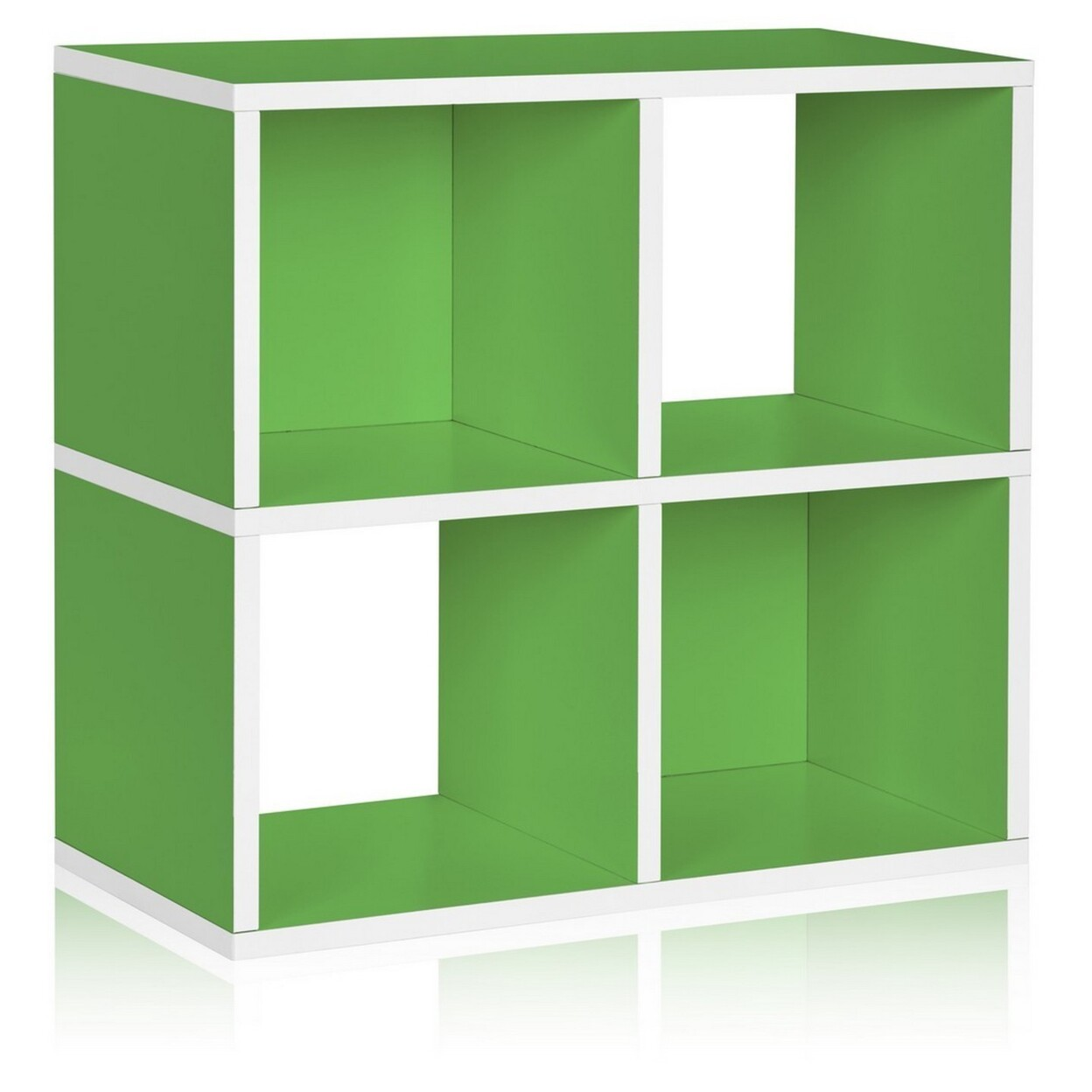 Eco Stackable Quad Cubby Organizer Green Tool-free Assembly Non Toxic Lifetime Warranty