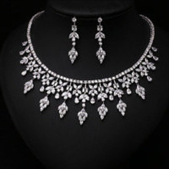 Buy fashion clear arrow with square shape cz diamond and for Diamond pearl jewelry sets