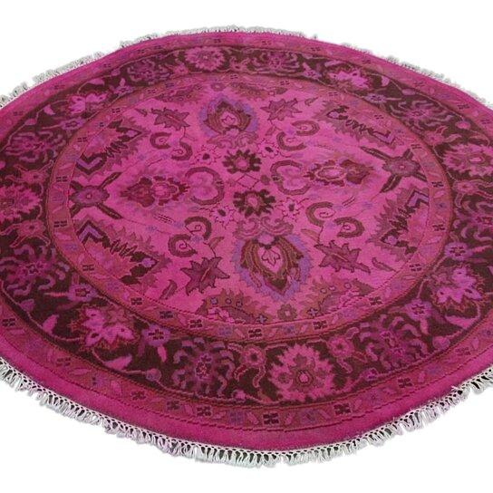 6x6 Overdyed Round Hot Pink Rug Ziegler Mahal Woh 2651