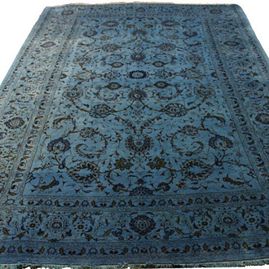 Buy 7x10 Vintage Teal Rug Overdyed Persian Blue 2827 By