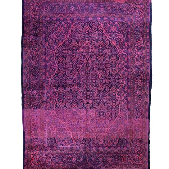 Buy 7x10 Overdyed Persian Mahal Hot Pink Purple Blue Rug