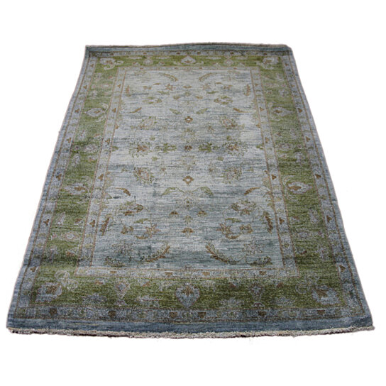 Buy Emerald Peridot Green 4x6 Over-Dyed Handknotted Wool