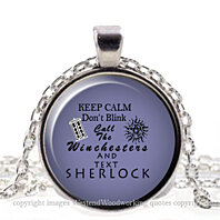 Sherlock WhoChester, Doctor Who, Supernatural, Sherlock Silver Whimsical Jewelry Pendant Necklace, Winchester Charm