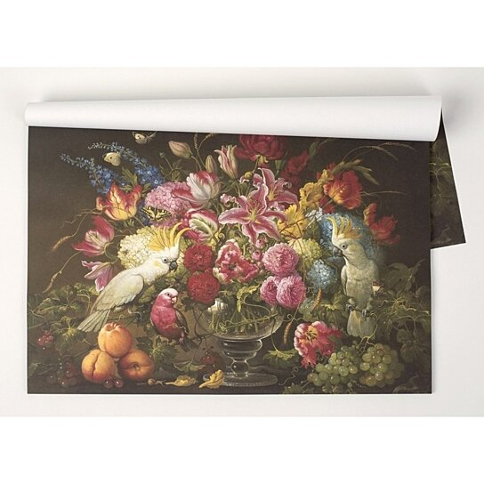Buy Kitchen Papers Vibrant Floral Paper Breakfast Lunch Dinner Party Placemats By Whinycat On