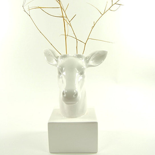 Trending Product This Item Has Been Added To Cart 65 Times In The Last 24 Hours Deer Head Vase White