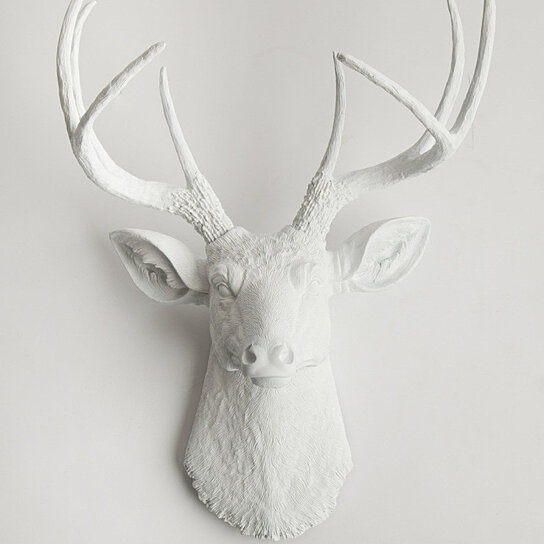buy the templeton white deer head by white faux taxidermy on dot bo. Black Bedroom Furniture Sets. Home Design Ideas