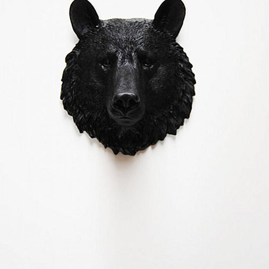 buy the tippens mini black bear by white faux taxidermy on opensky. Black Bedroom Furniture Sets. Home Design Ideas