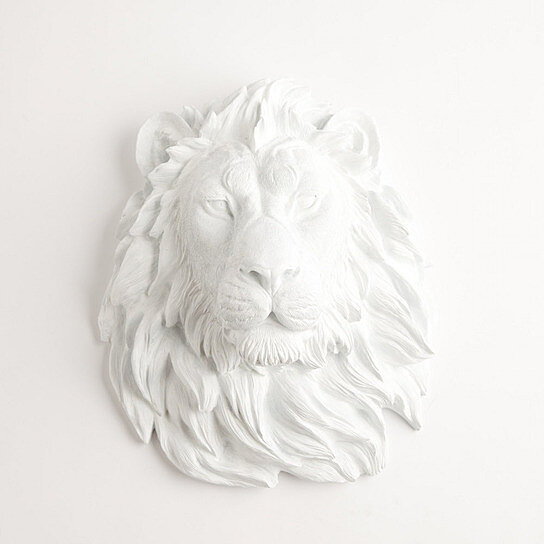 buy the walter white lion head by white faux taxidermy on opensky. Black Bedroom Furniture Sets. Home Design Ideas