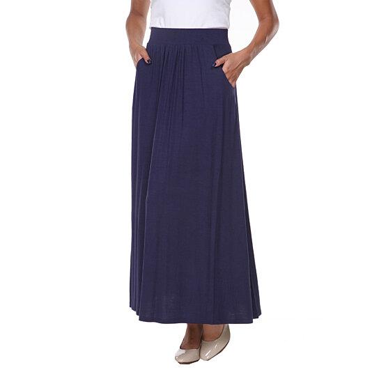 buy navy maxi skirt by white on opensky
