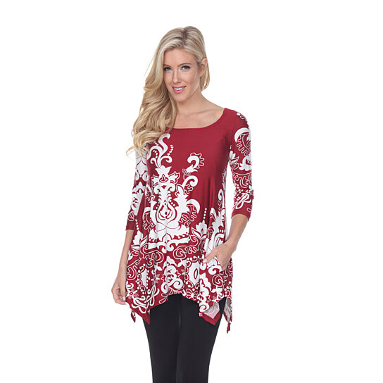 5df7db6553f Buy Yanette Tunic Top - Burgundy by White Mark on OpenSky