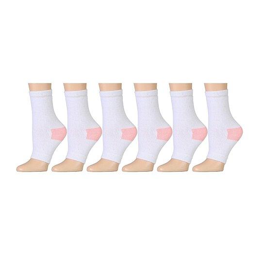76f915e8f5dc8 Value Pack excell Women's Pedicure Socks, Open Toe Socks Ladies