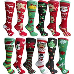Christmas Printed Socks, Colorful Festive, Wholesale Sock Deals, sock size 9-11