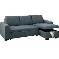 2 Piece Wooden Sectional Set Gray