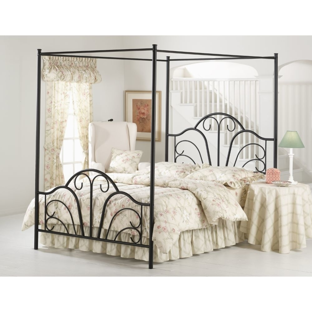 348bkp Dover Bed Set King W/canopy & Legs Rails Not Included