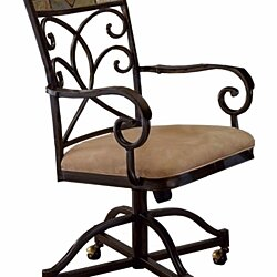 4442-806 Pompeii Caster Dining Chairs - Set of 2