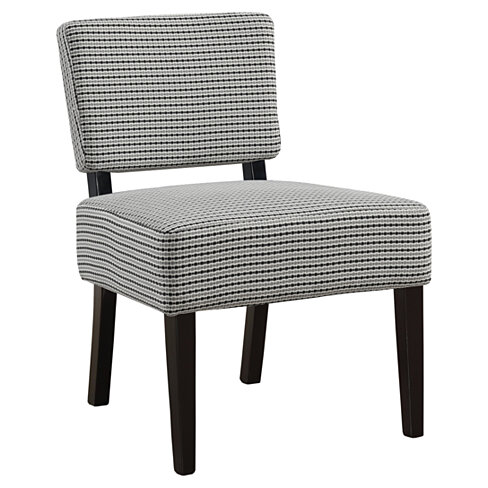 Accent Chair - Light Grey - Black Abstract Dot Fabric