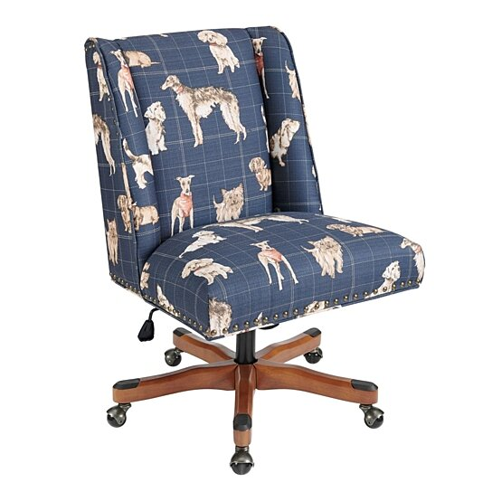 Buy Animal Print Fabric Upholstered Rolling Office Chair ...