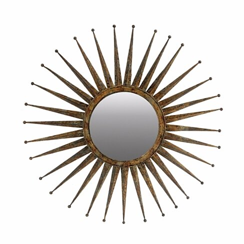 Antiquely Styled Golden Mirror