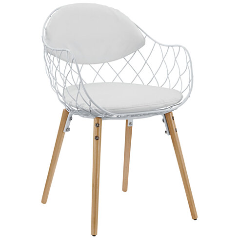 Basket Dining Metal Armchair
