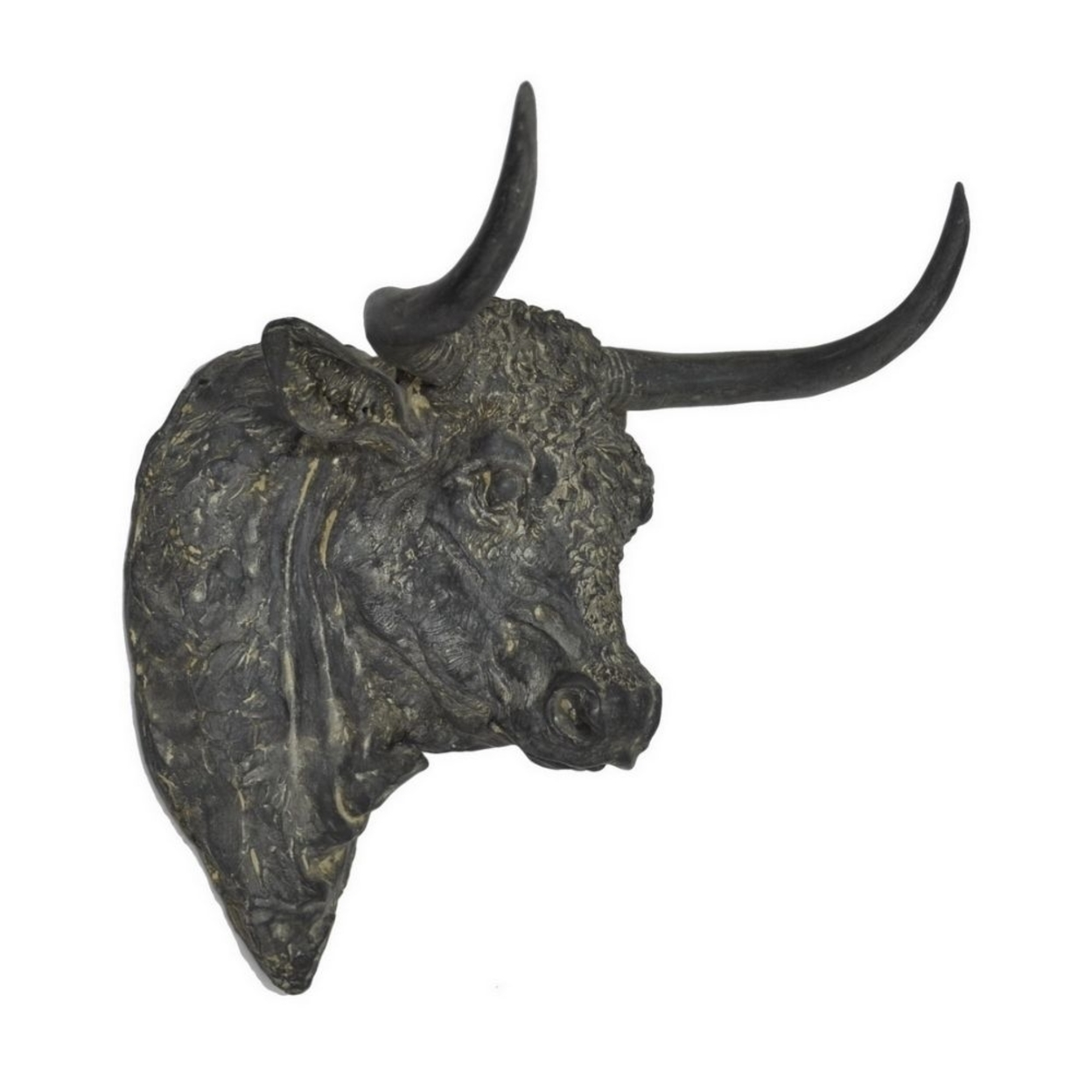 Benzara 34480 Resin Bull Head Wall Decor Rust, Gray 59ccb991e224612cf66f9a8e