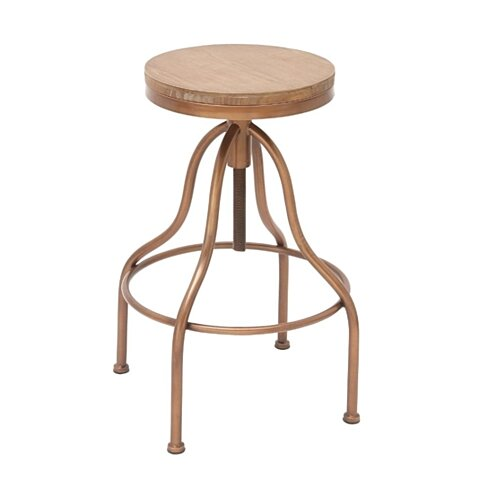 Benzara Superb Metal Wood Stool