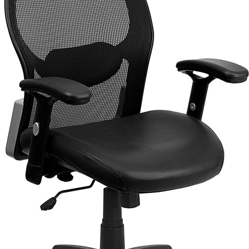 Black Mesh Chair Black LF-W42B-L-GG