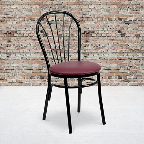 Black Restaurant Chair Black, Burgundy