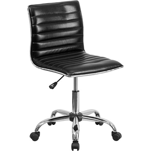 Black Ribbed Task Chair Black