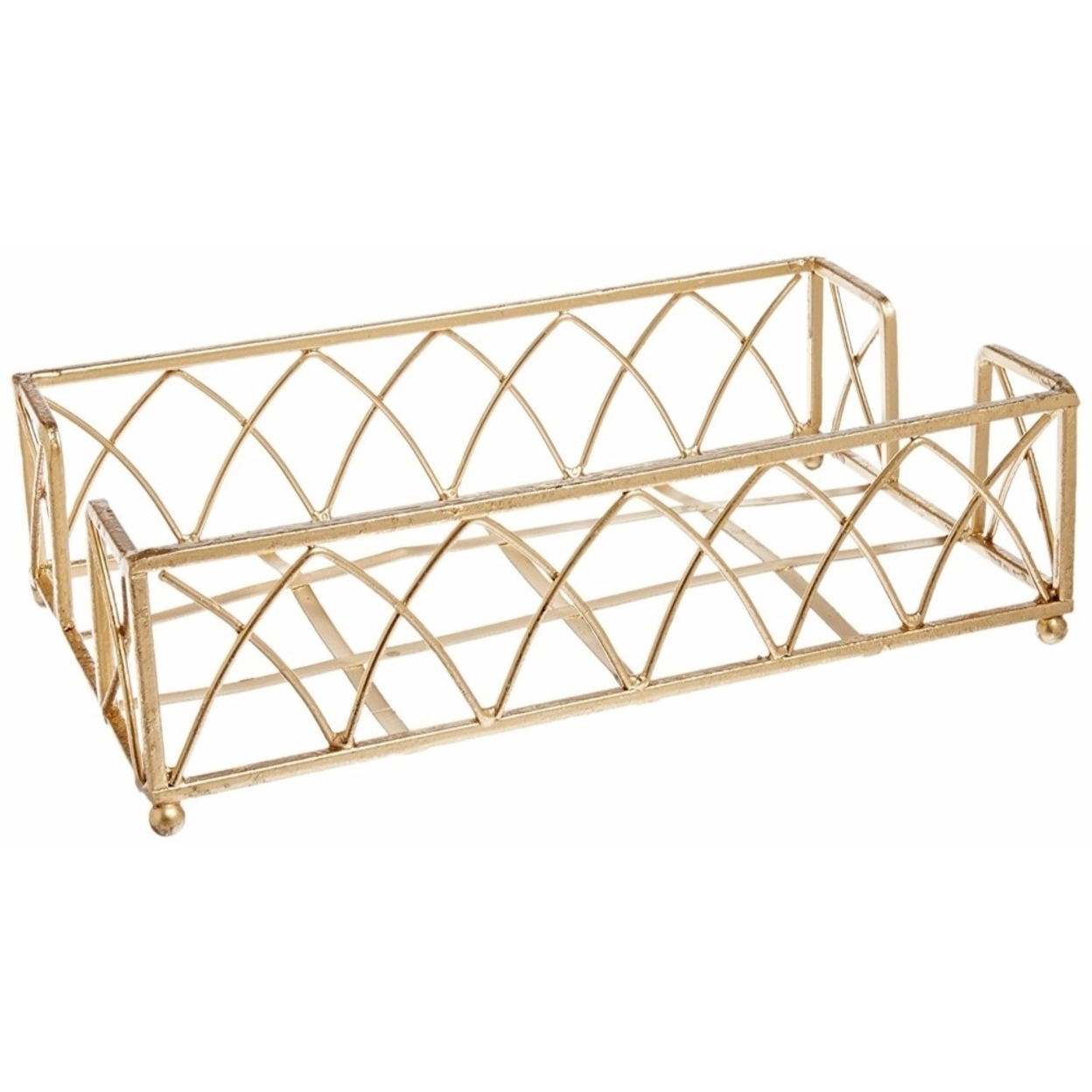 Boston International Guest Towel Caddy, Arch Design in Gold Leaf 59d009afe22461762112e0dc
