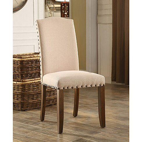 Brentford Transitional Side Chair, Rustic Walnut Finish, Set of 2