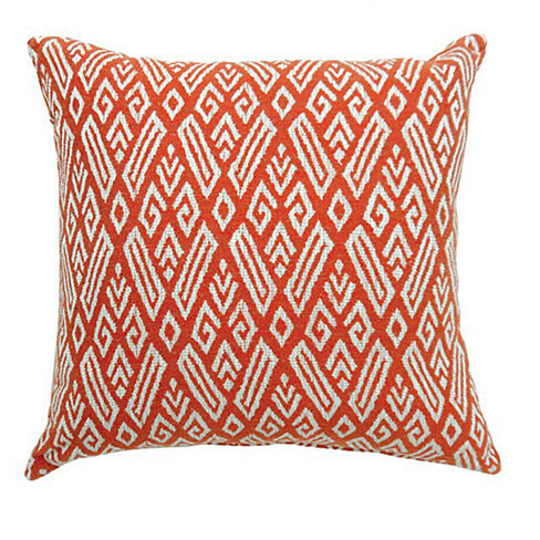 CICI Contemporary Big Pillow With pattern Fabric, Red Finish, Set of 2