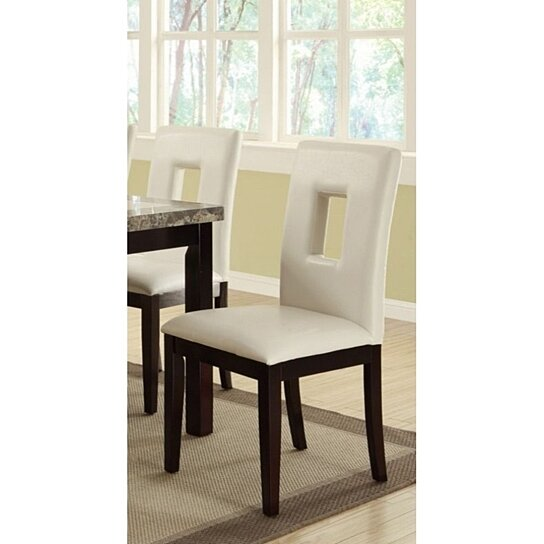 Buy Classic Pine Wood Dining Chairs Set Of 2 White And Brown By