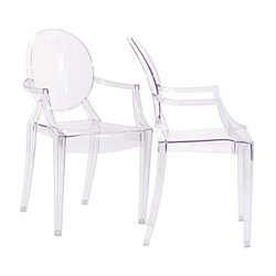 Clear Casper Dining Armchairs Set of 2