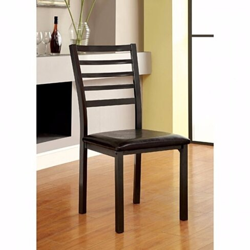 Colman Transitional Side Chair, Black, Set of 4