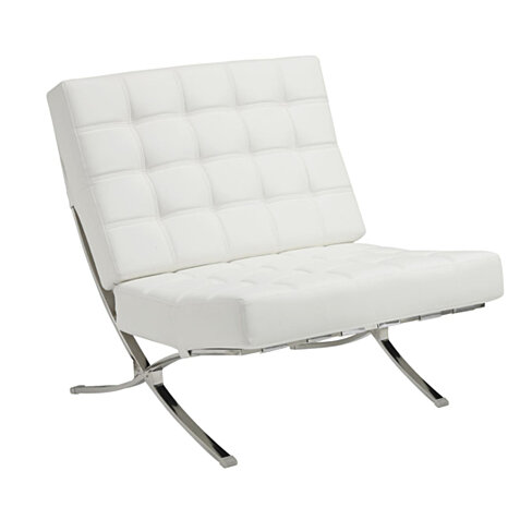 Comfortably Classy Accent Chair, White