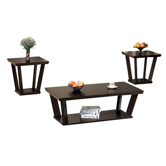 Buy Contemporary Style Coffee End Table Set Of 3 By Benzara Inc On Dot Bo