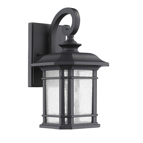 "CHLOE Lighting FRANKLIN Transitional 1 Light Black Outdoor Wall Sconce 17""Height"