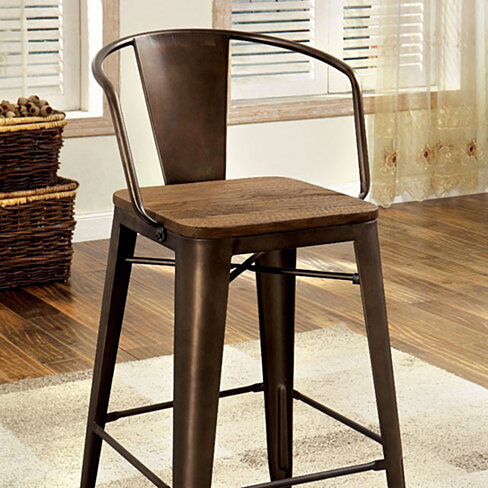 Cooper II Industrial Chair, Natural Elm Finish, Set of 4