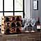 Stackable Three Bottle Wine Holder Log - Acacia Wood with Bark