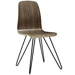 Drift Bentwood Dining Side Chair, Walnut