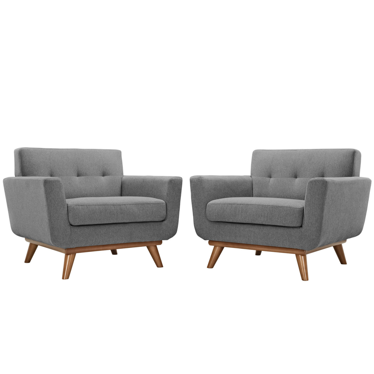 Engage Armchair Wood Set Of 2 , 1284-gry