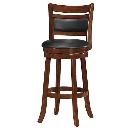 Surprising Finely Trimmed 24 Inch Counter Height Swivel Barstool Brown Squirreltailoven Fun Painted Chair Ideas Images Squirreltailovenorg
