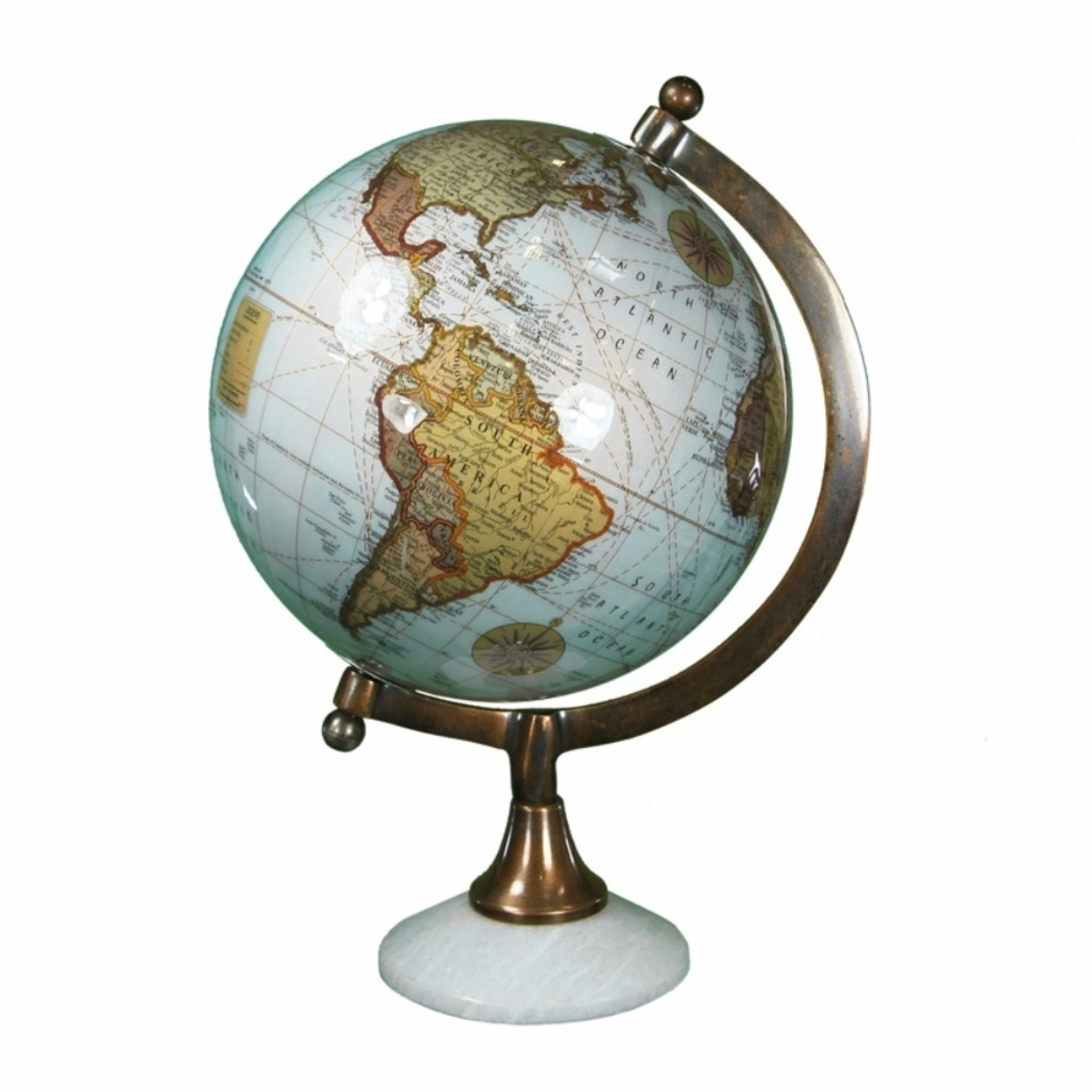 Minimalistic Globe With Marble Base, Multicolor 5a670cf3e224616b435ae154