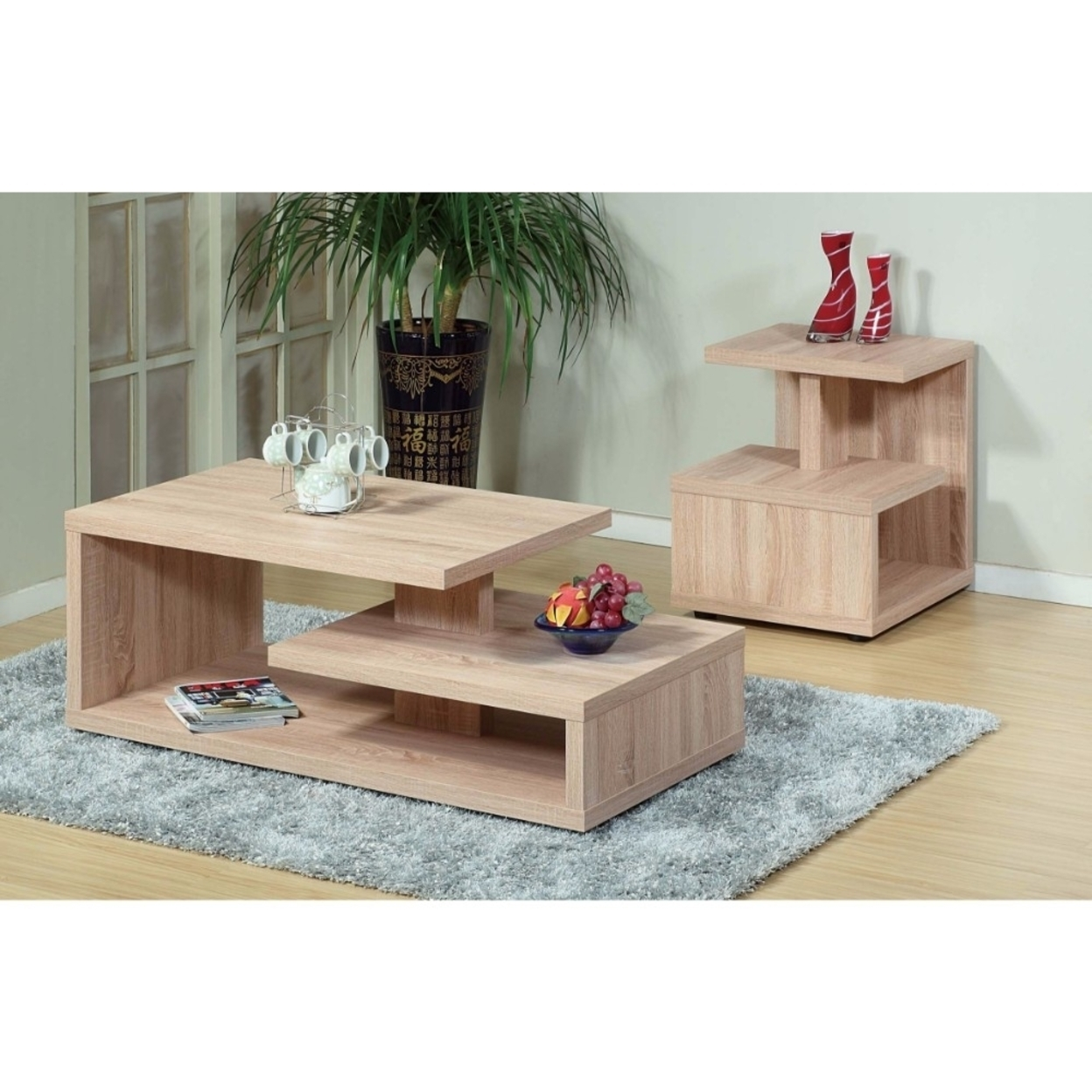 Modern Design Coffee & End Table, Set of 2 59f81c06e2246173d5112a04