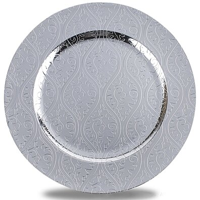 Moslem Pattern Round Plastic Charger Plate With Electroplating Finish Silver(-002-1P)  sc 1 st  Dot u0026 Bo & Kitchen u003e Dinnerware u003e Chargers