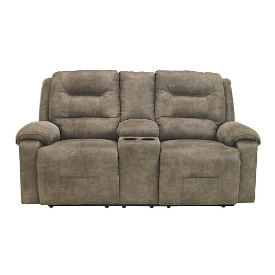 Prime Polyester Upholstered Metal Reclining Loveseat With Storage Console And Cup Holders Gray Onthecornerstone Fun Painted Chair Ideas Images Onthecornerstoneorg