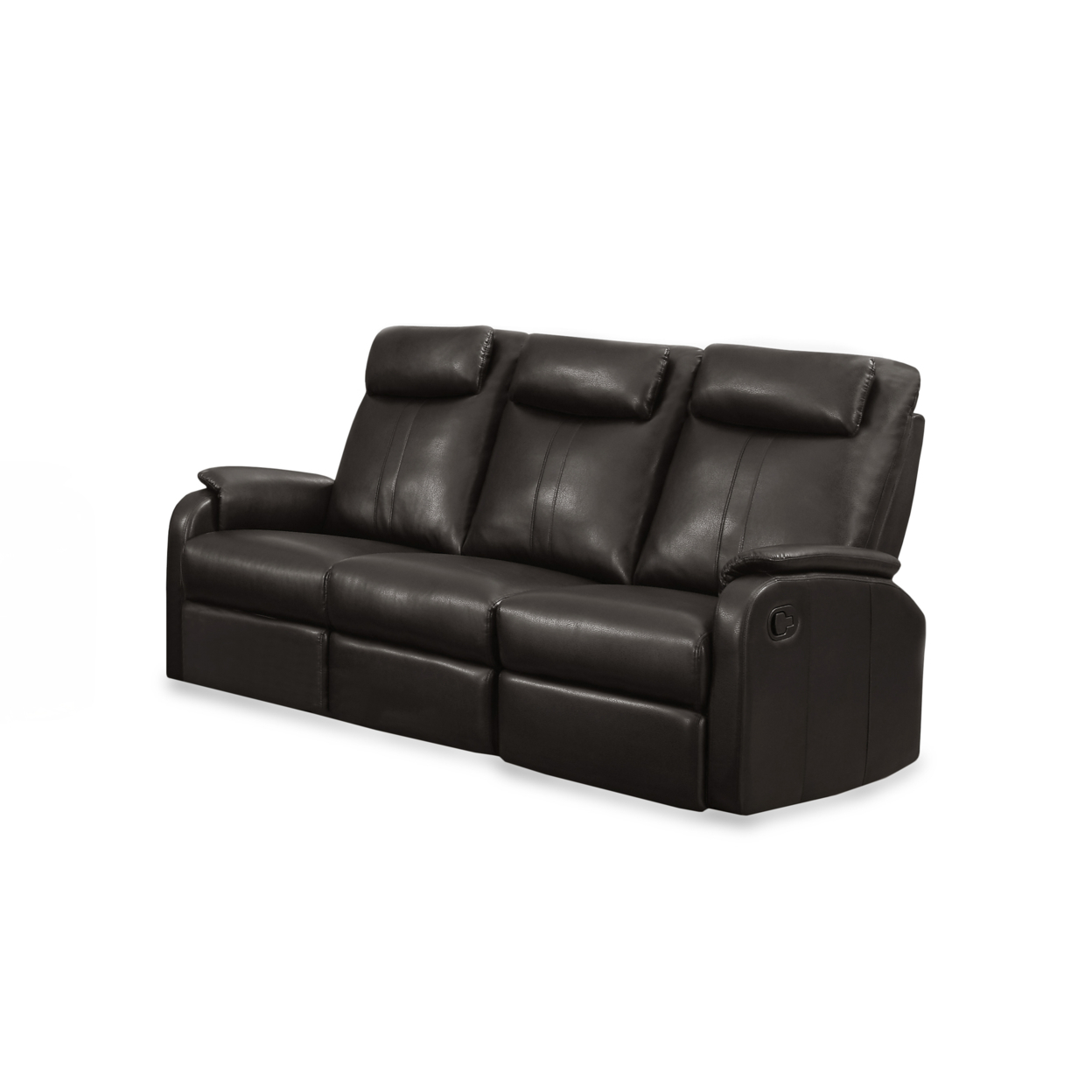 Reclining - Sofa Brown Bonded Leather, 81Br-3 5a5461f42a00e41a3f15bd34
